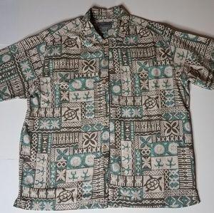 Men's Retro Eddie Bauer Hawaiian Shirt